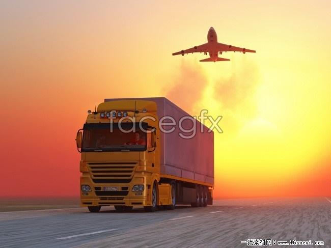 HD sunset transportation picture