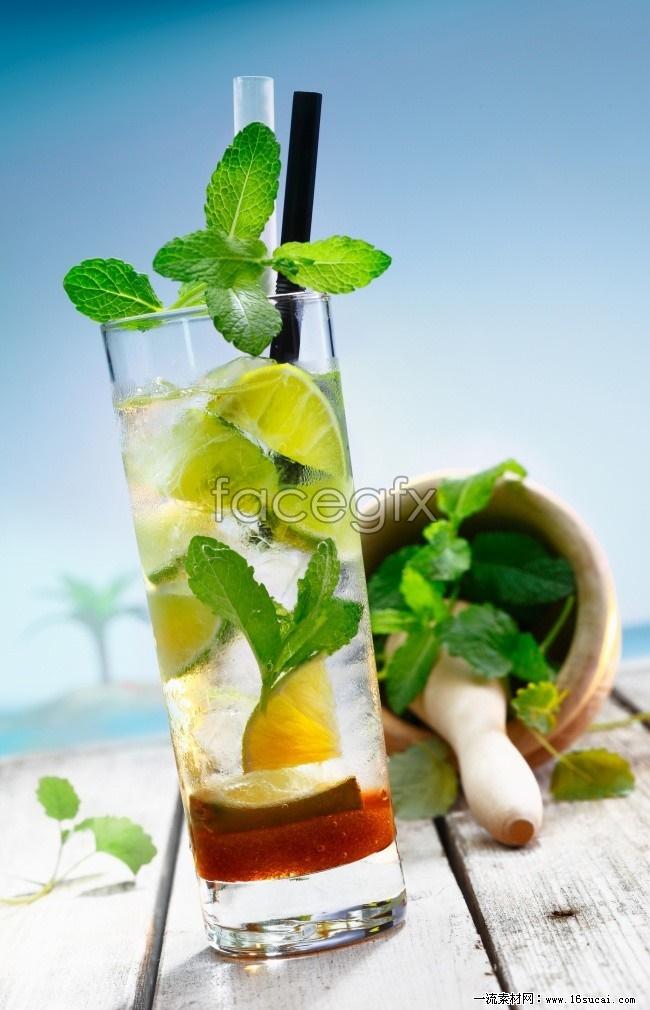 Summer lemon drink high definition pictures