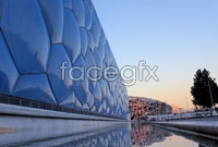 Exterior of the water cube HD pictures
