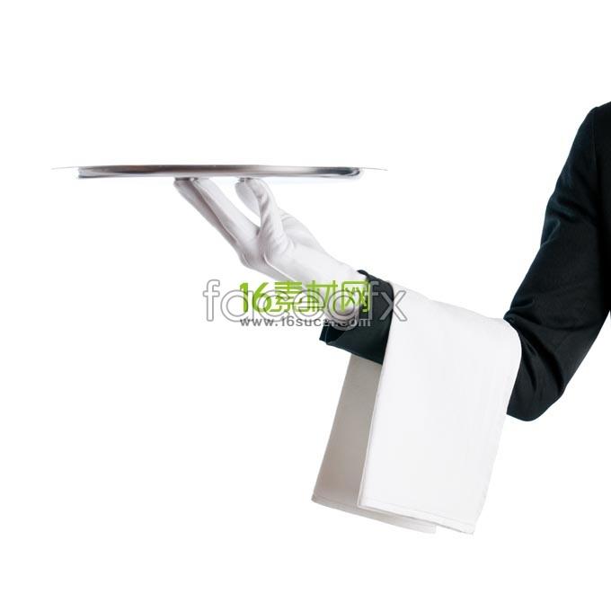 Hand tray waiter