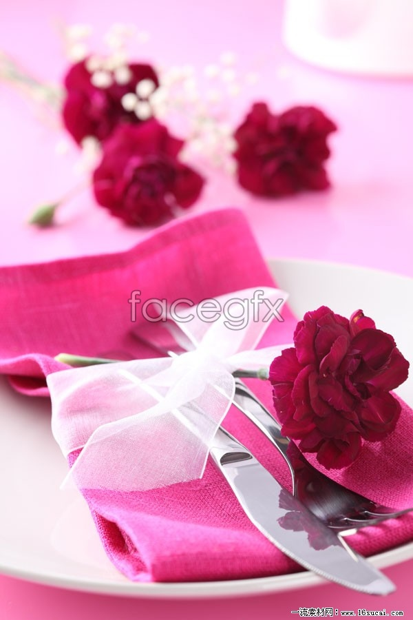 Romantic Western tableware high definition pictures