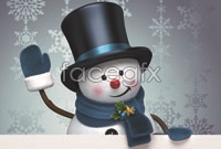 Billboards with snowman