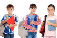 A row of dorsal bag student HD Photo