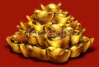 Mountains of gold ingot picture