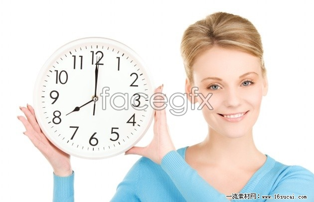 Blonde beauty and the clock high definition pictures