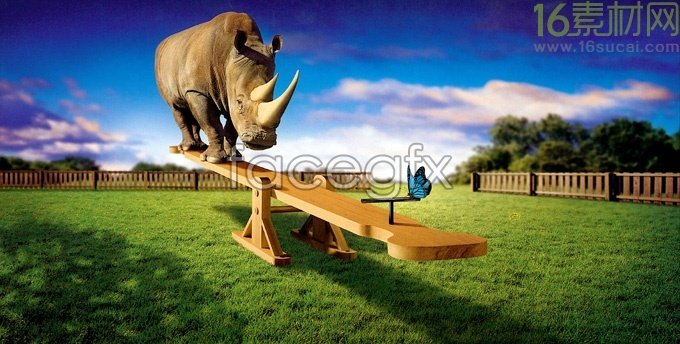 Creative seesaw HD pictures