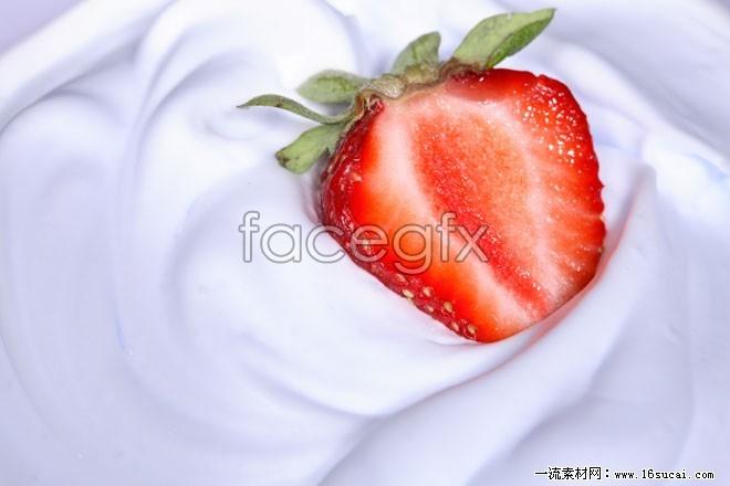 Fresh strawberry milk HD pictures