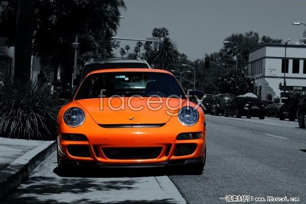 HD Orange Ferrari pictures