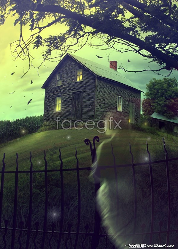 Spectre of terror haunted house high definition pictures