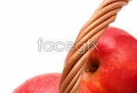 Bamboo basket of red apples HD pictures