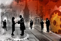 Business people silhouettes high definition pictures