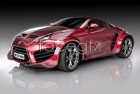 HD picture red concept sports car