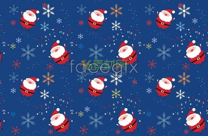 Tile the picture of Santa Claus background