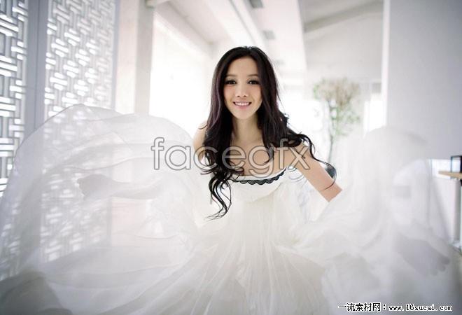 Wenwen Han wedding HD picture