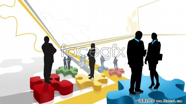 Working people silhouette picture