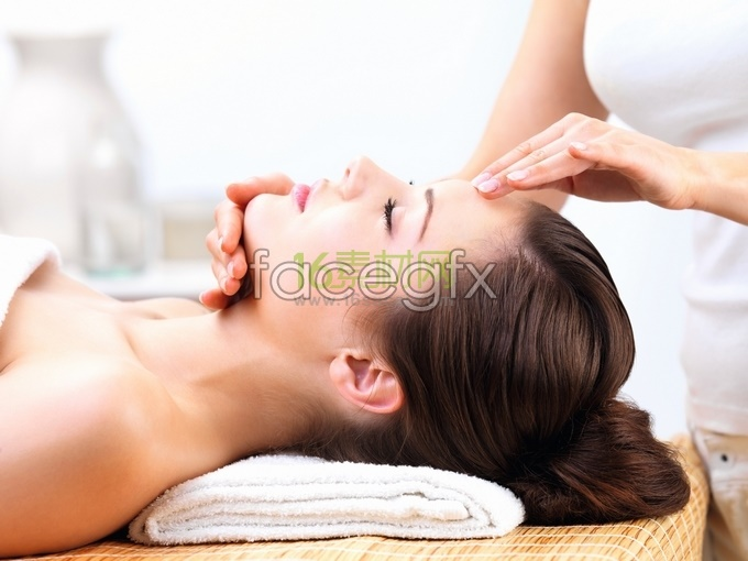 Beauty Massage facial care high definition pictures