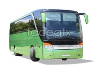 Green tour bus auto HD picture