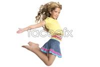Jumping girl HD Photo
