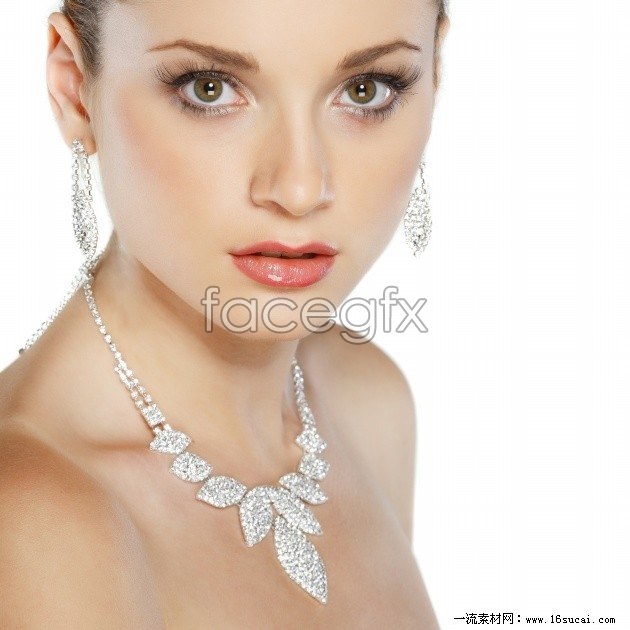 Necklace girl model HD picture
