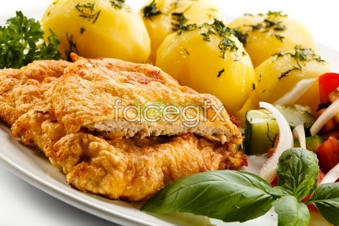 Tender chicken fruits pictures