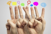 Cute finger face HD pictures