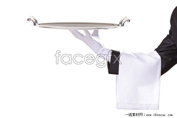Waiter trays pose HD pictures 4