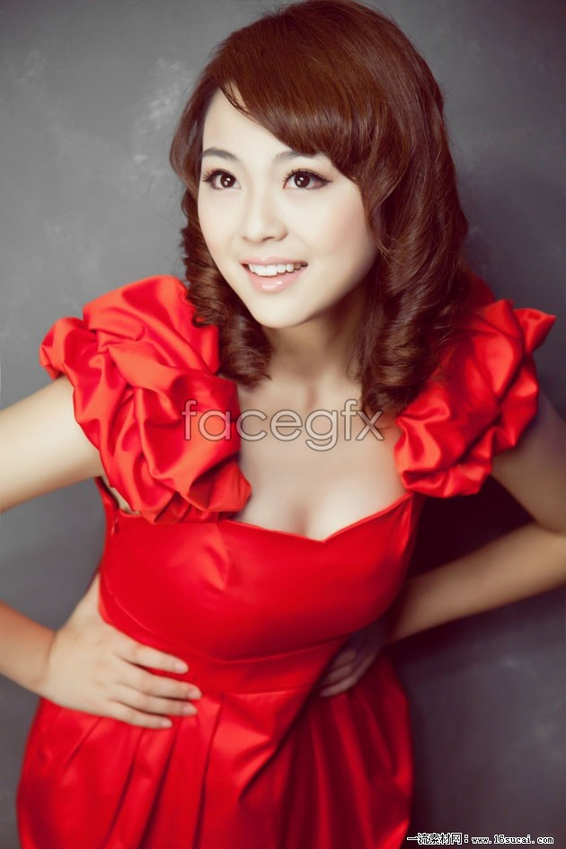 Download HD picture sexy woman in red