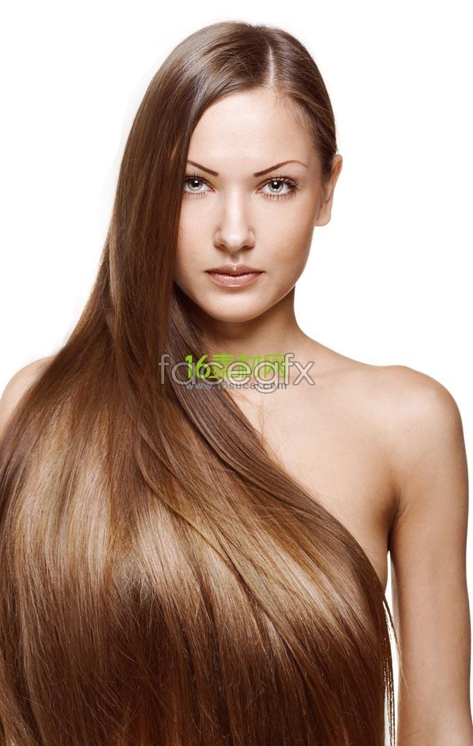 Silky hair salon advertising models