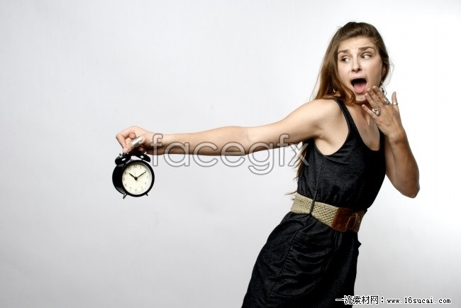 Surprised girls pictures HD alarm clock