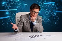 Business and technology background high definition pictures