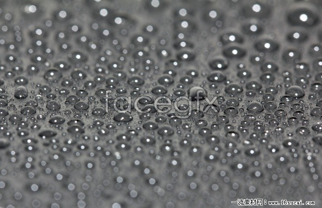 HD grey water drops background picture