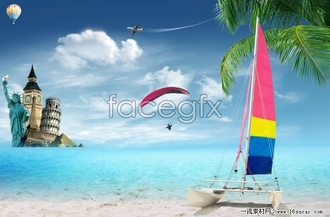 Seaside landscapes HD picture