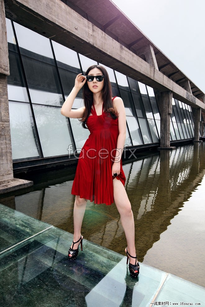 Street Sunglasses red dress beautiful HD pictures