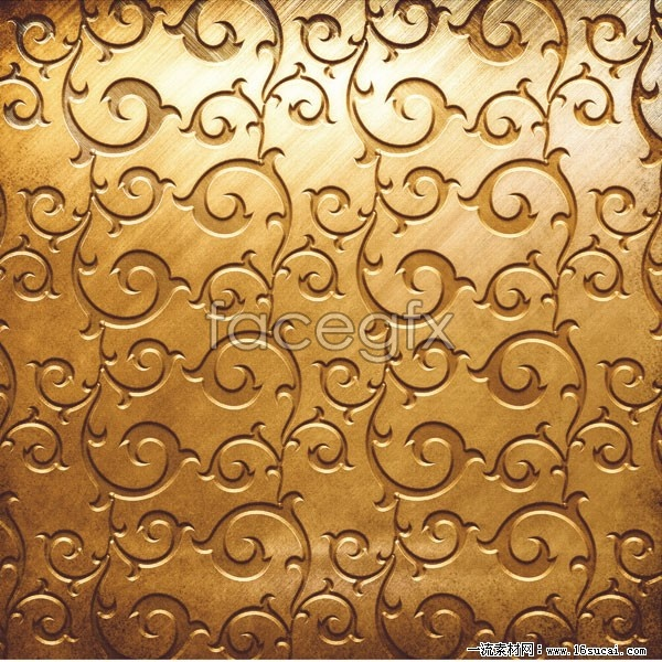 Gorgeous European-style Golden pattern HD pictures