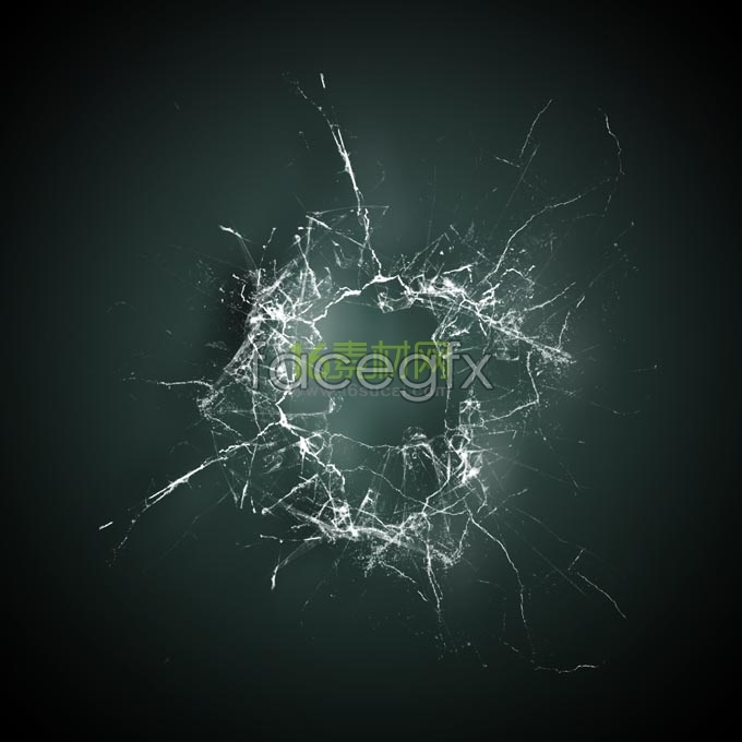 Hyper-realistic broken glass HD pictures