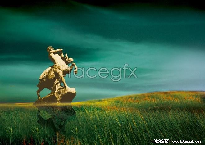 Prairie art statue high definition pictures