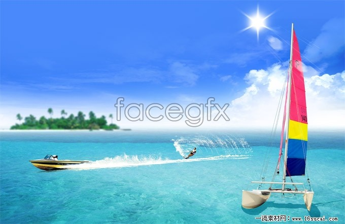 Summer romance high definition pictures of the Sea