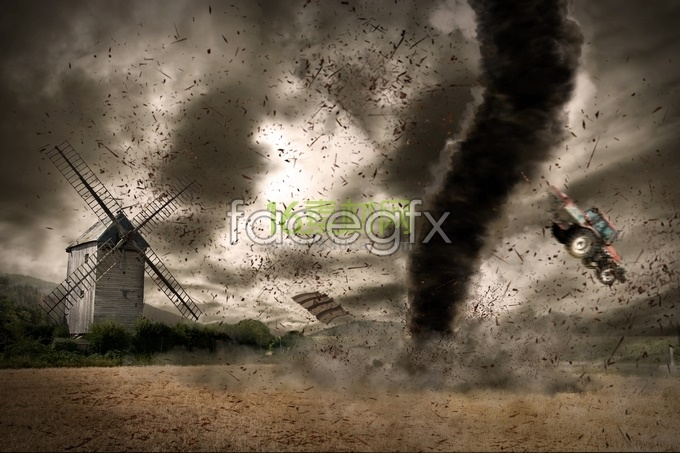 Tornado sand gravel high definition pictures