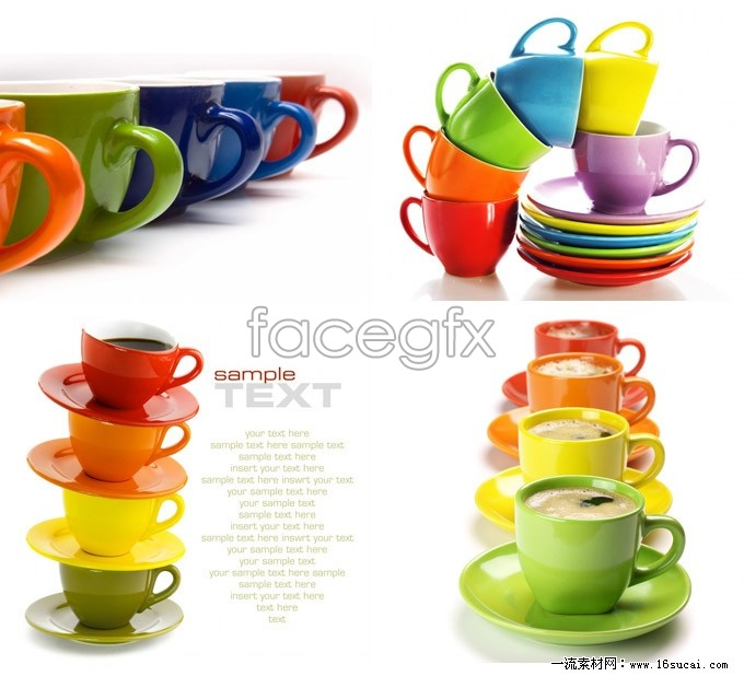4 color cups HD picture
