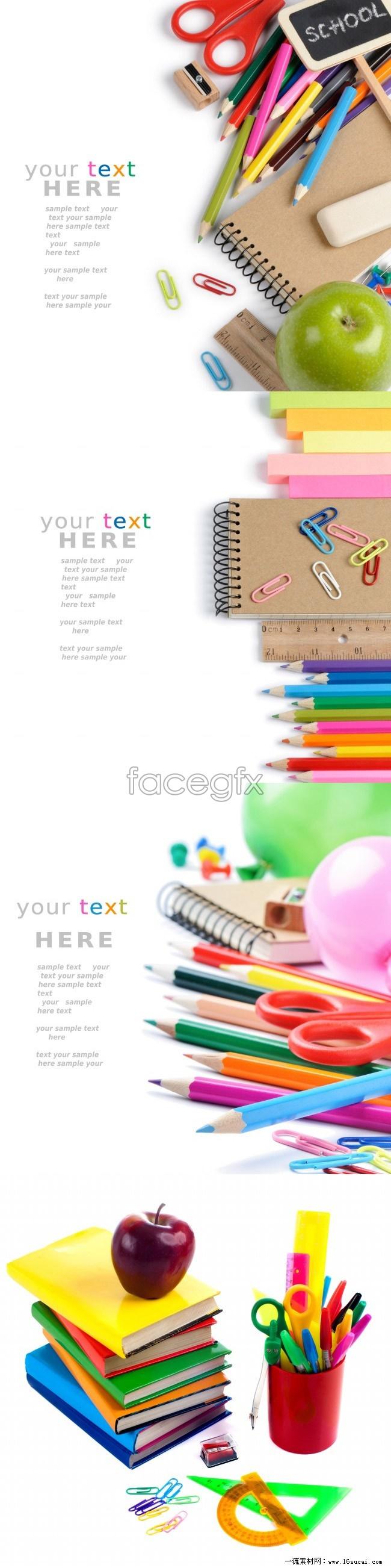 4 school supplies picture