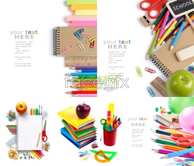 5 color stationery HD picture