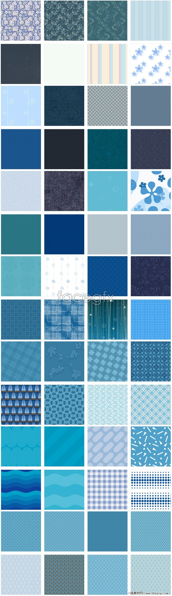 Blue page background graphic Pack