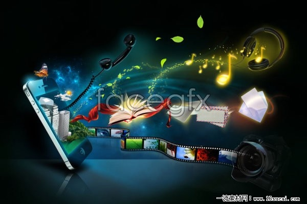 Creative mobile phone HD picture poster
