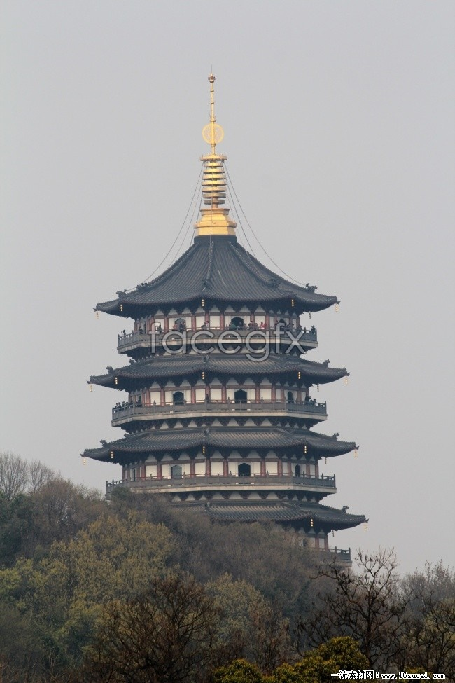 Lei Feng pagoda landscapes HD picture