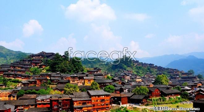 Xijiang Miao village HD Photo