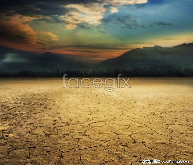 Arid land of HD picture