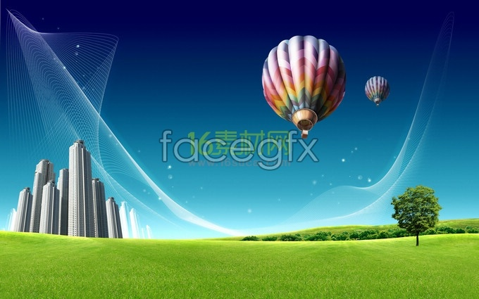 Background concept creative green city life HD