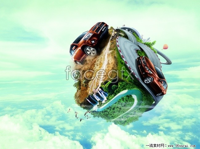 Creative design of automotive advertising high definition pictures
