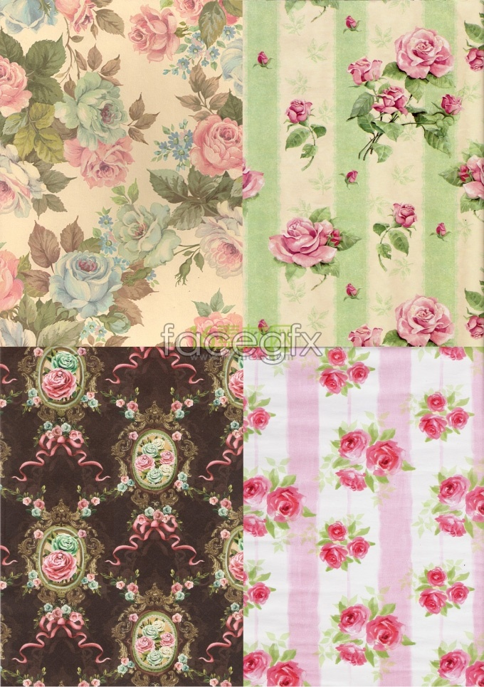 HD retro flower background in pastoral HD pictures