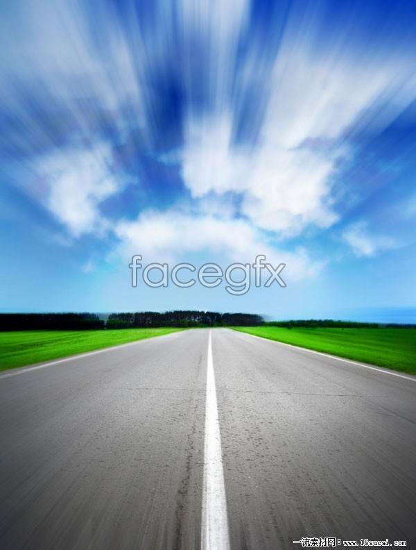 Highway landscape picture